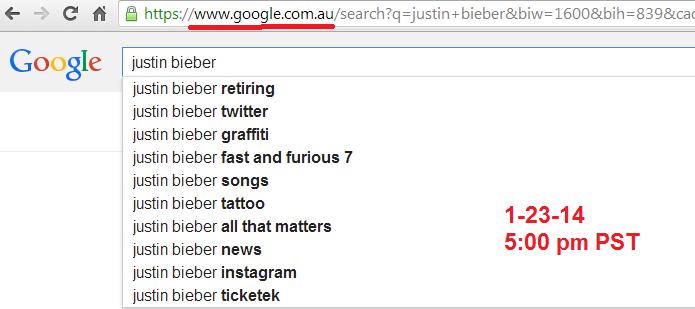 Justin Bieber mugshot australia