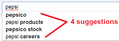 pepsi - always show google instant