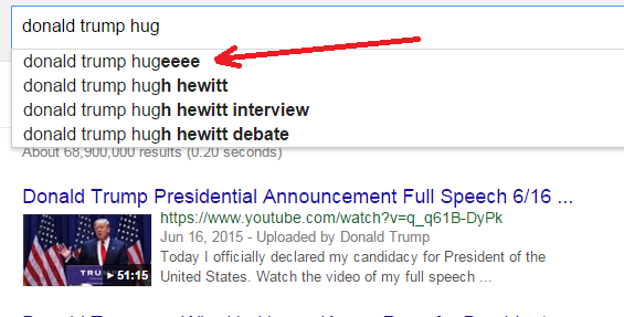 donald trump hugeeee in google autocomplete dec 2015